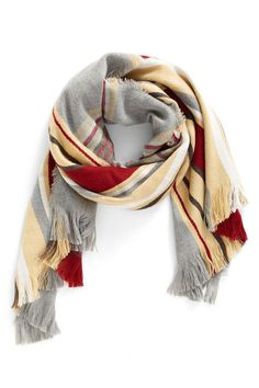 Stripe Plaid Scarf - Holiday Gifts for Her - Southernliving. BUY IT: $29; nordstrom.com This scarf makes the perfect finishing touch to any outfit.