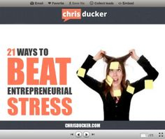 21 Ways to Beat Entrepreneurial Stress - As business owners, we entrepreneurs have to put up with more stress than most, dealing with everyday issues, on top of the worries of starting, building and running our own enterprises.     Stress can, and will, at one point or another creep up and get the best of you - even if just for a short period of time.     Here are 21 tips you can act on, to help you deal with entrepreneurial stress.