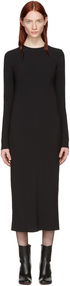 Haider Ackermann - Black Bias Dress