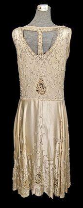 1920's Beaded dress - back - @Mlle