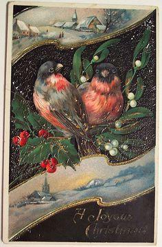 indigodreams:  Vintage Christmas Postcard