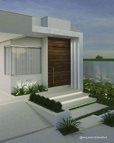 Exterior front entrance decor house plans ideas for 2019 Villa Design, Minimalist House Design, Modern House Design, Modern Exterior, Exterior Design, Bungalow Haus Design, House Front Design, House Entrance, Entrance Decor
