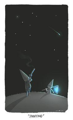 Shooting star, Random Word Doodles Part 01 by Charles Santoso, via Behance