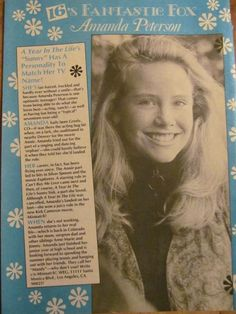 Amanda Peterson. Article