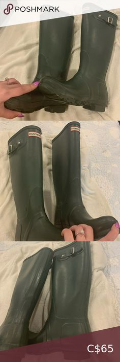 Green hunter boots size Matte green hunter boots A few scuffs otherwise good condition Size 7 Hunter Shoes Winter & Rain Boots Green Hunter Boots, Hunter Shoes, Plus Fashion, Fashion Tips, Fashion Trends, Winter Rain, Rubber Rain Boots, Riding Boots, Best Deals