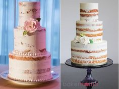 semi naked rustic cakes - Google Search