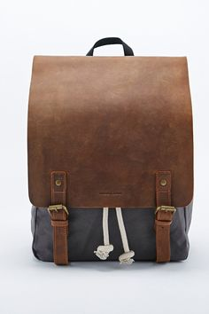 Forbes & Lewis Devon Backpack in Grey and Brown - Urban Outfitters