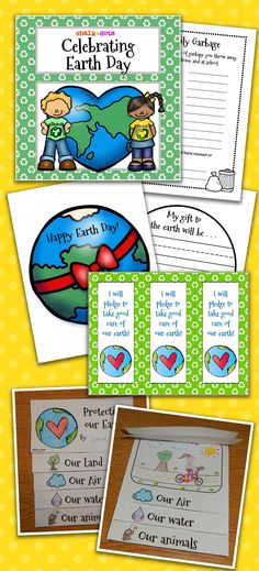 Earth Day – These activities are wonderful to use on Earth Day or anytime during that entire week. I have included several different Earth Day activities for you to choose from. They are designed to help your students understand that they too can play an important role in helping to protect the earth.