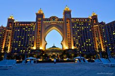 Atlantis The Palm Dubai features water slides, river rides, a water playground for young children, and a private beach and lush topical landscaping, great place