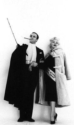Marlon Brando and Marilyn Monroe photographed by Milton Greene, 1955