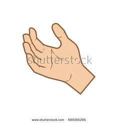 color hand vector icon