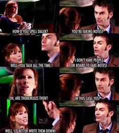 Doctor and Donna. Touche.