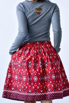 Spódnica Bombka Flores    www.kokoworld.pl #kokoworld #skirt #batik #handmade #africa