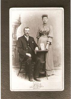John Heil and Elizabeth Breidenbach Heil Possibly wedding photo 1893