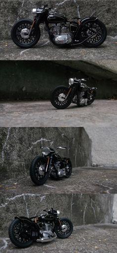 JUNAK - Polish legend Vintage Motorcycles, Custom Motorcycles, Custom Bikes, Cars And Motorcycles, Build A Bike, Custom Bobber, Bobber Chopper, Ex Machina, Motorcycle Bike