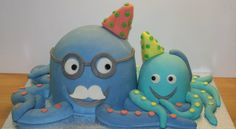 Grandfather-grandson octopuses cake