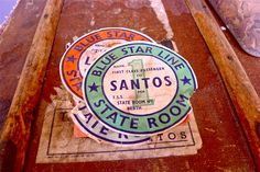 to santos by blue star line, sometime last century