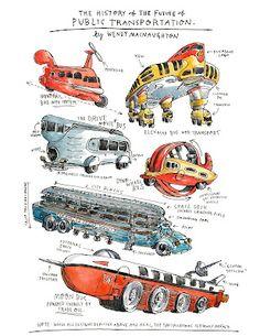 Retro future! History of the future of transportation. Thanks, Paleofuture.