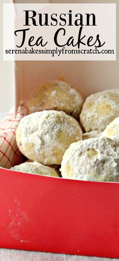 Russian Tea Cakes aka Mexican Wedding Cakes. A must have Christmas cookie! serenabakessimplyfromscratch.com