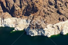Lake Mead above Hoover Dam from a helicopter Royalty Free Stock Photo