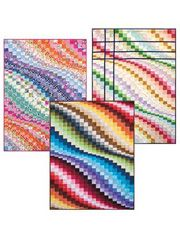"""I Used to be a Layer Cake Quilt Pattern  3 versions of Bargello Quilts - 41"""" x 57 1/2"""" using 40 -- 10"""" squares"""