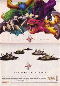 Final Fantasy III (VI) Magazine ad featuring Moogle