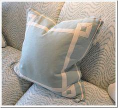 Shut up.  Flange edge pillows. Mrs. Howard, of course. #PheobeHoward