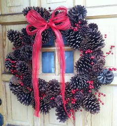 Stillness And Diligence: Wintery Pinecone Wreath