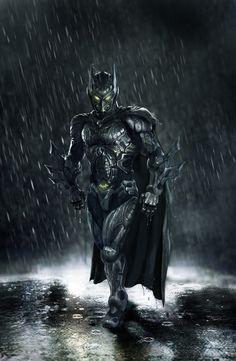 Batman stumbled across an alien biological suit that transformed his costume into a super-powered suit of destruction.    The Bio Bat, by Shannon Bocras.