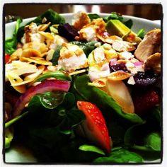 Strawberry and avocado salad Avocado Salad, Strawberry, Food, Meal, Essen, Strawberries, Hoods, Meals, Eten
