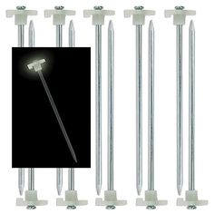 10pk Glow In The Dark Tent Stakes Pegs Heavy Duty Steel Metal Camping Tarp Long * You can find out more details at the link of the image.Note:It is affiliate link to Amazon.