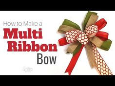 Save those ribbon scraps and make these easy multiple ribbon bows. Save those ribbon scraps and make these easy multiple ribbon bows. Making Bows For Wreaths, Easy Fall Wreaths, How To Make Wreaths, Wreath Making, Mesh Wreaths, Diy Bow, Diy Ribbon, Ribbon Bows, Ribbons