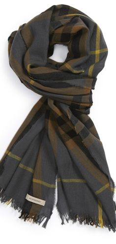 Burberry Check Merino Wool & Cashmere Scarf