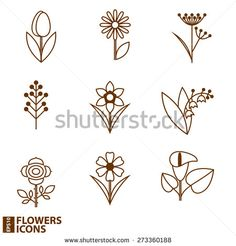 flowers icons.Vector illustration