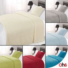 Luxury Large Waffle Honeycomb Mink Warm Thick Throw Over Sofa Bed Soft Blanket
