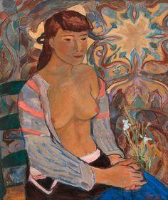 Eugene Jansson, Rose House, Miss Moss, Tove Jansson, Moomin, Scandinavian Modern, Maya, Oil On Canvas, Modern Art