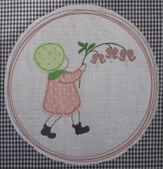 Our new embroidery design: child with bleeding heart.