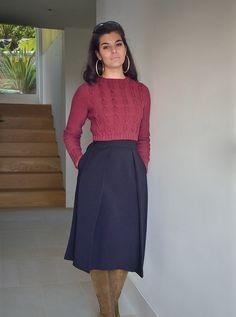 Ravelry: Faye pattern by Kim Hargreaves Cropped Knit Sweater, Classy Women, Classy Lady, Sweater Design, Vintage Knitting, Knitting Patterns Free, Free Knitting, High Fashion, High Waisted Skirt