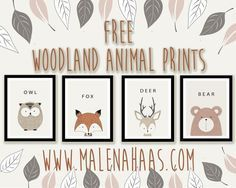Free Woodland Animal Printables