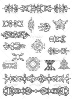 Celtic Oornaments #GraphicRiver Celtic ornaments and embellishments for design and decorate. Editable EPS8 (you can use any vector program) and JPEG (can edit in any graphic editor) files are