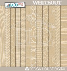 Whiteout Kit from Design House Digital (Audrey Neal) - neutral but designed kraft papers; multipurpose