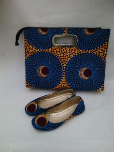 AFRICAN PRINT shoes and purse and accessories by EJAfricanProducts