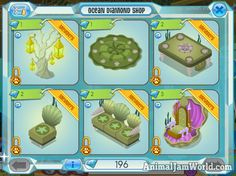 New Ocean Diamond Shops in Animal Jam Diamond Clothing, Diamond Shop, Animal Jam, Shops, Ocean, Animals, Shopping, Tents, Animales