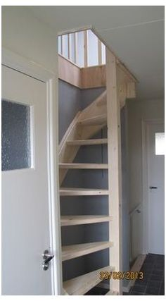 Small Space Staircase, Loft Staircase, Space Saving Staircase, Stairs In Small Spaces, White Staircase, Attic Spaces, Attic Rooms, Loft Conversion Stairs, Loft Conversions