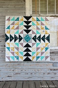 "Beautiful ""Etno Quilt Top"" by Nancy Purvis of Owen's Olivia."