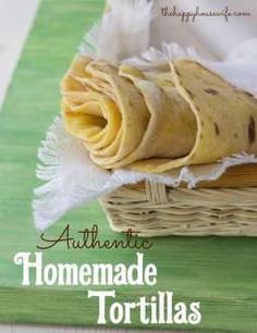 Homemade tortillas a