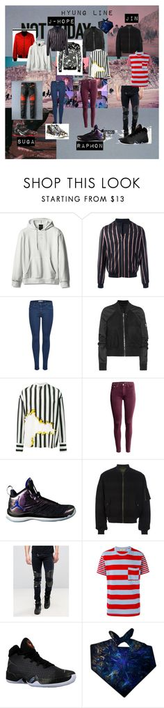 """Not Today Hyung Line"" by jungkookielove ❤ liked on Polyvore featuring The Kooples, Rick Owens, Haider Ackermann, NIKE, Sixth June and Maison Kitsuné"