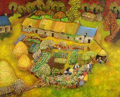 """""""La Mémoire des champs"""" de Lucien pouedras Art And Illustration, Illustrations, Oeuvre D'art, Trees To Plant, Les Oeuvres, Artist, Lucien, Painting, Inspiration"""