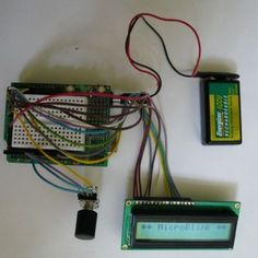Rotary Encoder LCD interface example