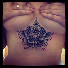 mandala sternum tattoo - Google Search